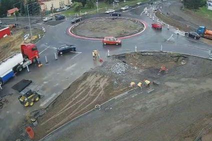 Kraj Vysočina začíná stavět okružní křižovatku v Telči